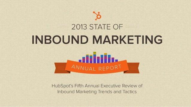 State of Inbound Marketing Report Sneak Peek