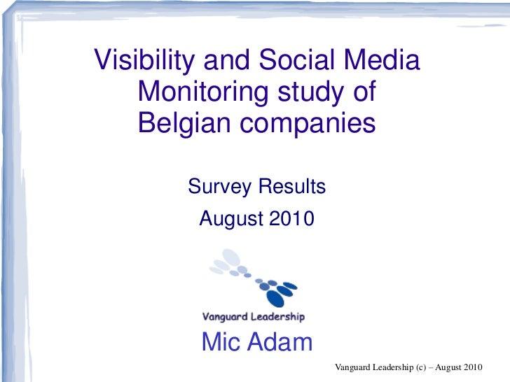 State Of Social Media In Belgium   Presentation