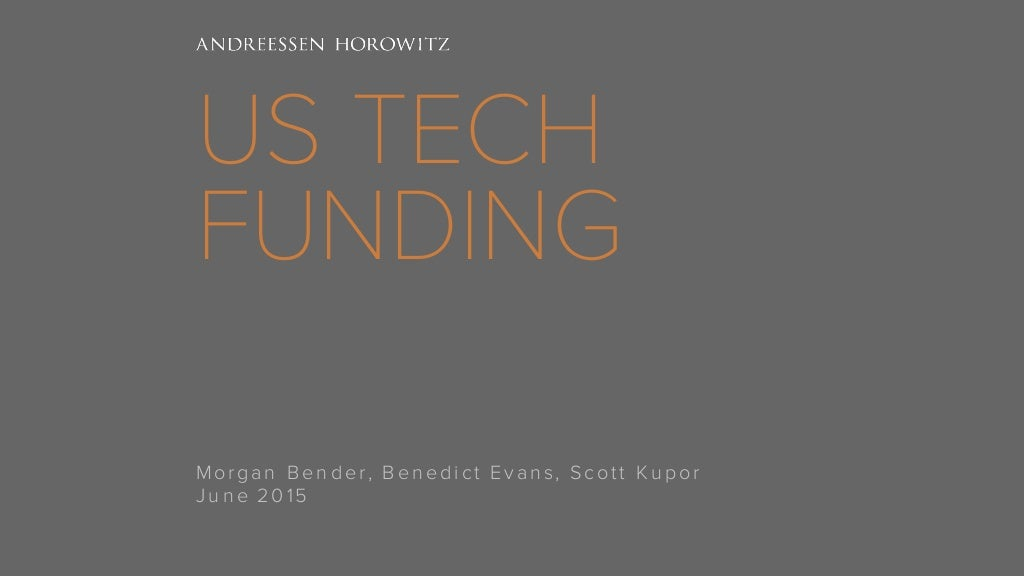 U.S. Technology Funding -- What's Going On?