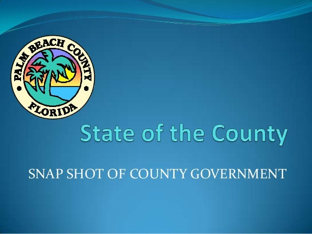 State of the County Address by Commissioner H. Valeche