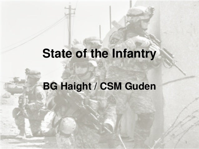 State of the Infantry (CG Infantry School Sept 2013)