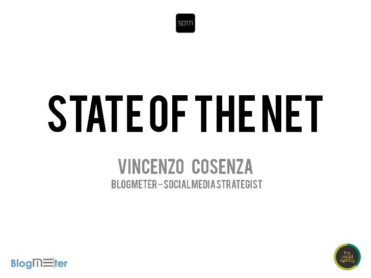 State Of The Net 2012 - Vincenzo Cosenza
