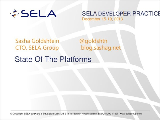 State of the Platforms