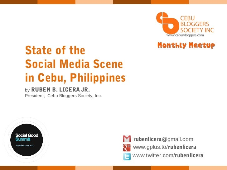 State of the social media scene in cebu, philippines