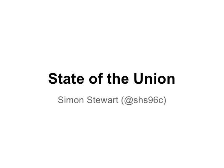 State of the Union Simon Stewart (@shs96c)