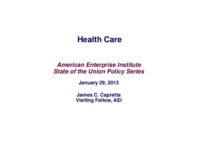 AEI State of the Union series: Health care