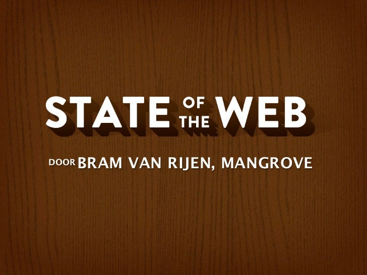 State of the web