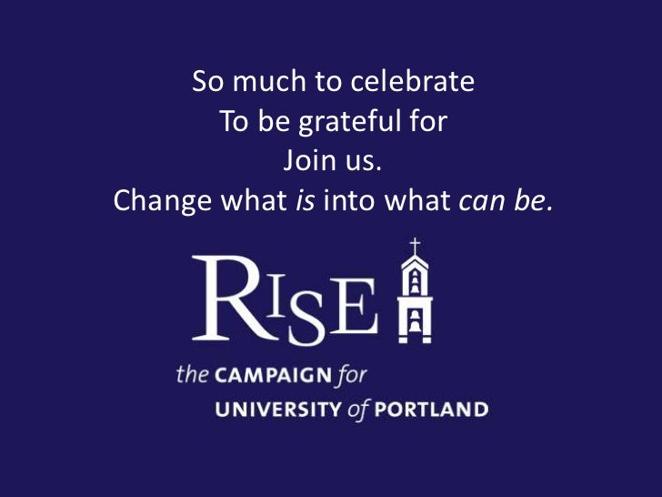 State of University of Portland - 2011