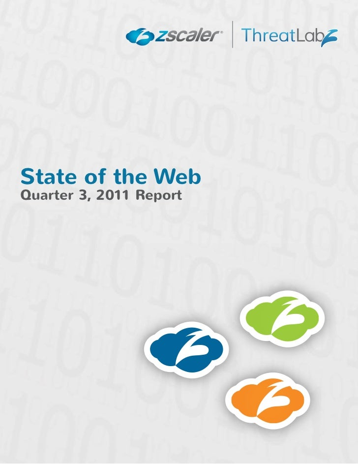 State of The Web - Quarter 3, 2011State of the WebQuarter 3, 2011 Report© 2011 Zscaler. All Rights Reserved.   Page 1