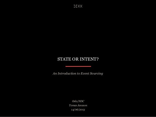 State or intent
