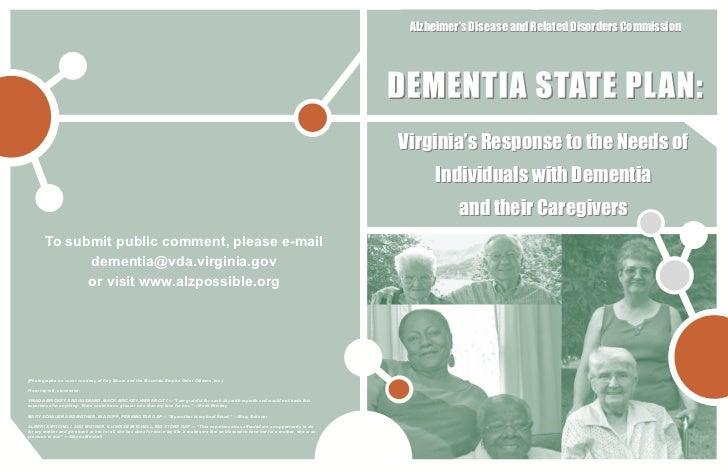 Virginia Dementia State Plan draft