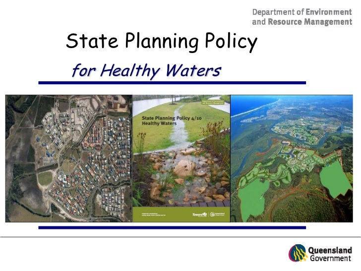 State Planning Policyfor Healthy Waters