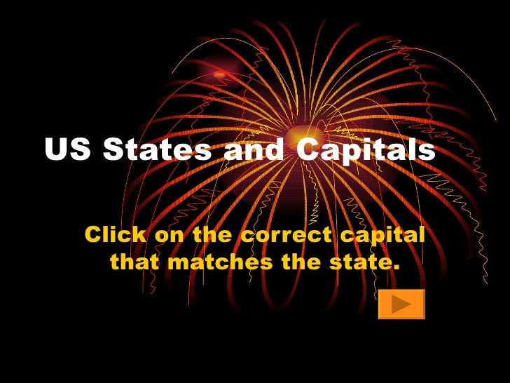 US States and Capitals Click on the correct capital that matches the state.
