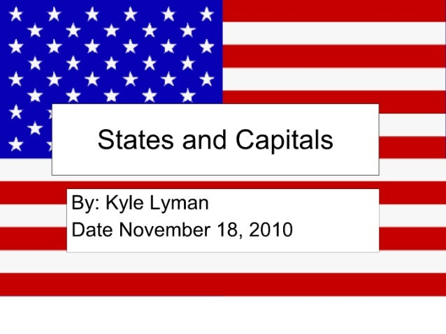 States and capitals nov 2010