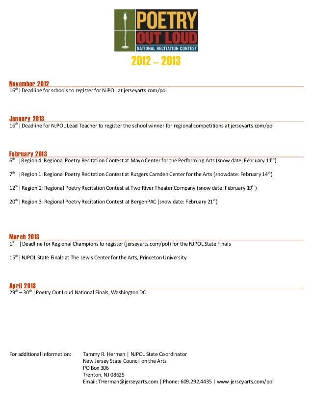 State schedule