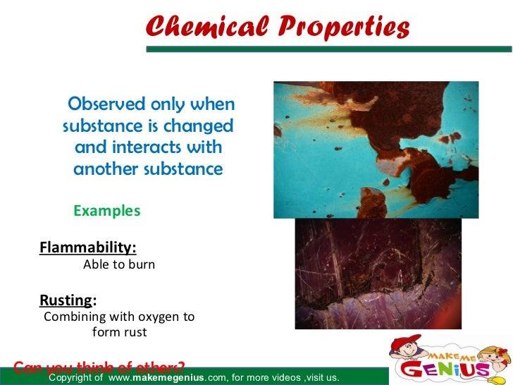 example property chemical