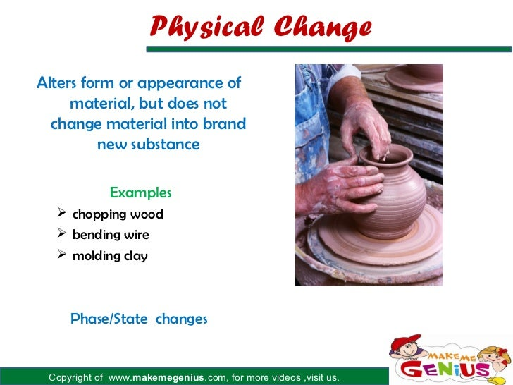 Physical Change Examples For Kids Chemical And Physical Changes