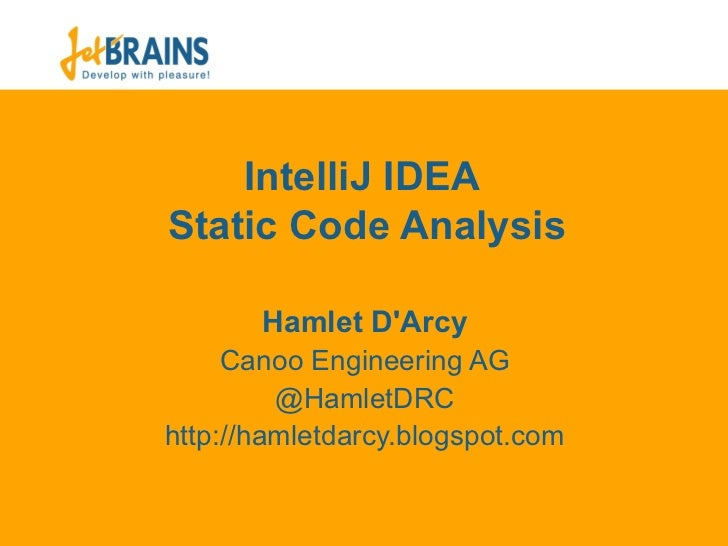 Static Analysis in IDEA