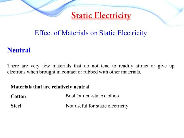 Static Electricity Experiment Results