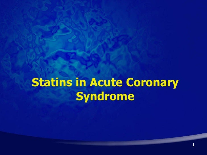 Statins in Acute Coronary Syndrome