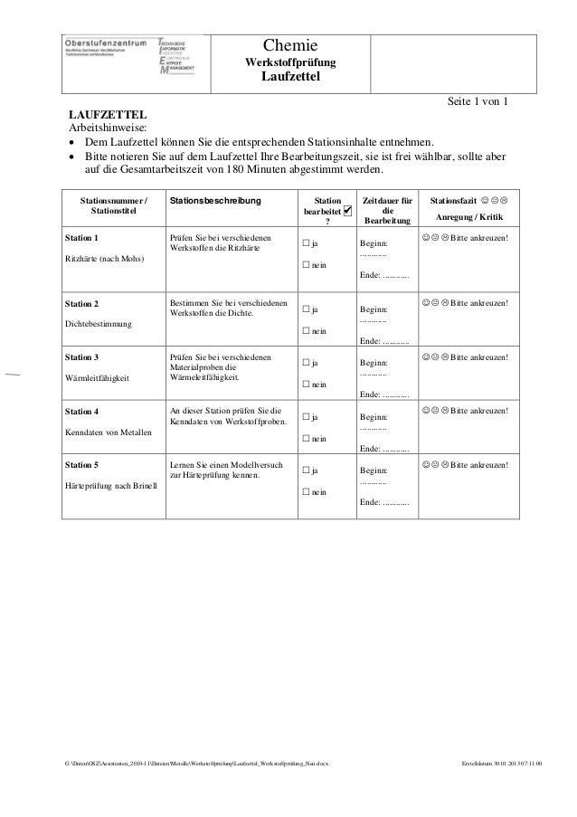 Chemie                                                                     Werkstoffprüfung                               ...