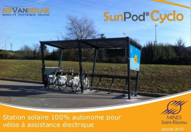 Station solaire 100% autonome pour vélos à assistance électrique Janvier 2015