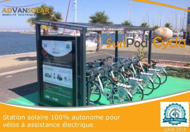 Station solaire 100% autonome pour vélos à assistance électrique Juillet 2014