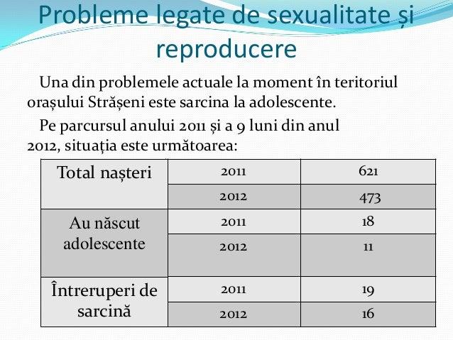 Probleme legate de sexualitate și reproducere Una din problemele actuale la moment în teritoriul orașului Strășeni este sa...