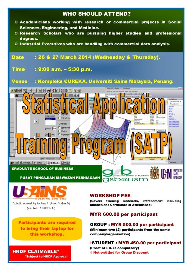 STATISTICAL APPLICATION TRAINING PROGRAM