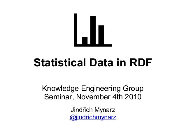 Statistical data in RDF