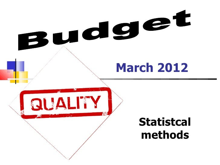 March 2012   Statistcal   methods