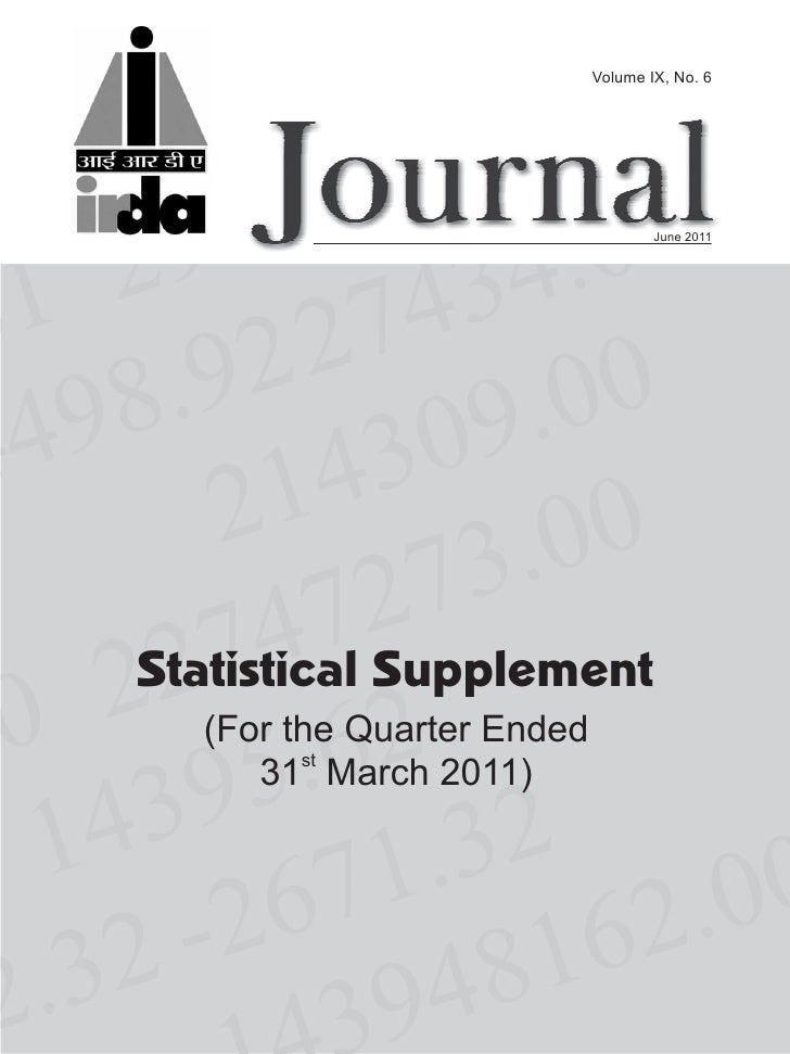 Volume IX, No. 6                                   June 2011Statistical Supplement  (For the Quarter Ended     31st March ...