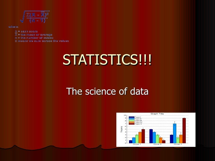 STATISTICS!!! The science of data