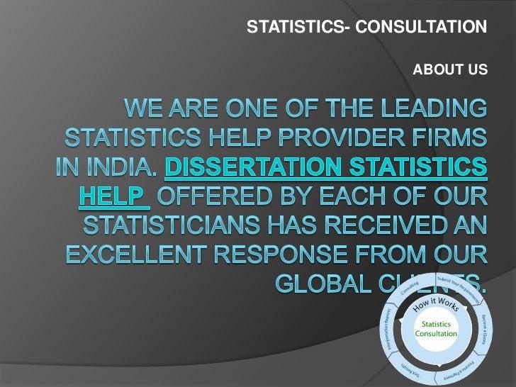 Dissertation statistics consulting dnr term paper