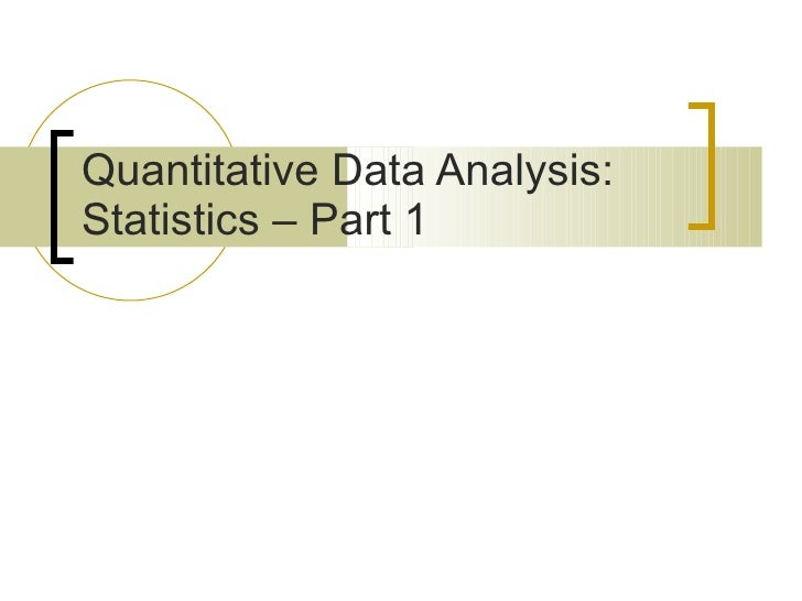 Introduction to Statistics - Part 1