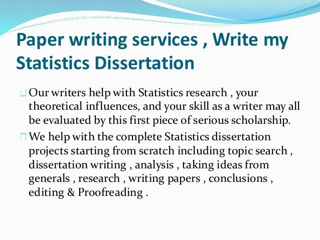 Statistical Dissertation Services