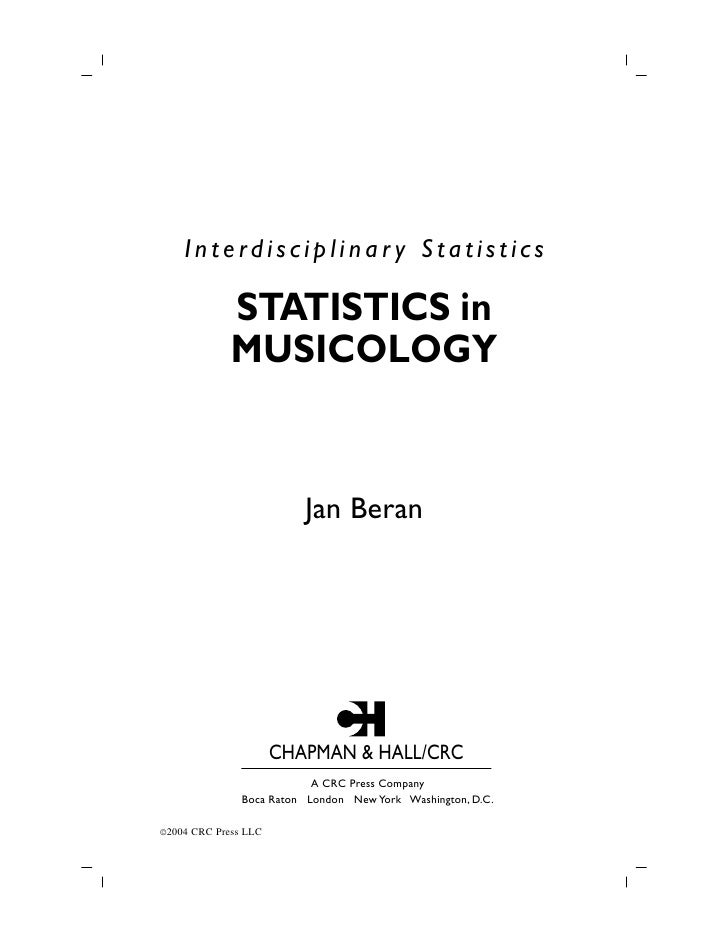 Statistics in musicology
