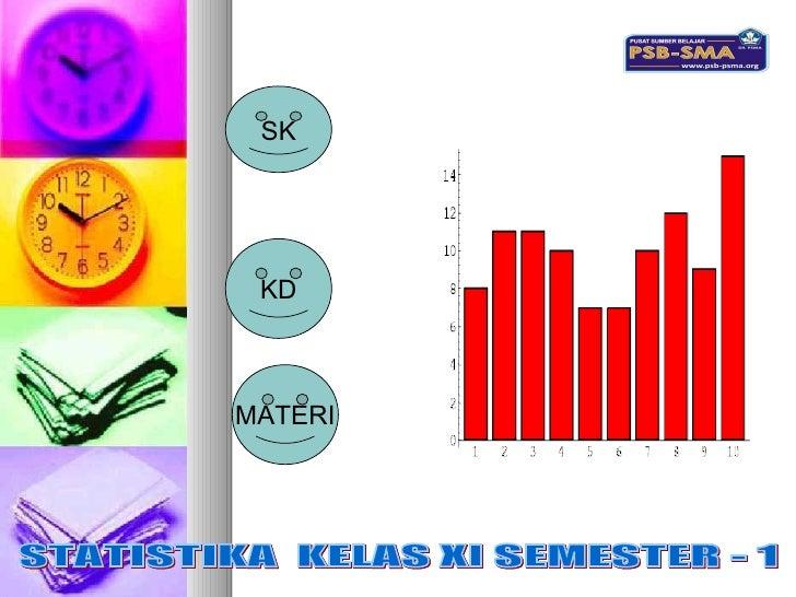 SK KD MATERI STATISTIKA  KELAS XI SEMESTER - 1 STATISTIKA  KELAS XI SEMESTER - 1