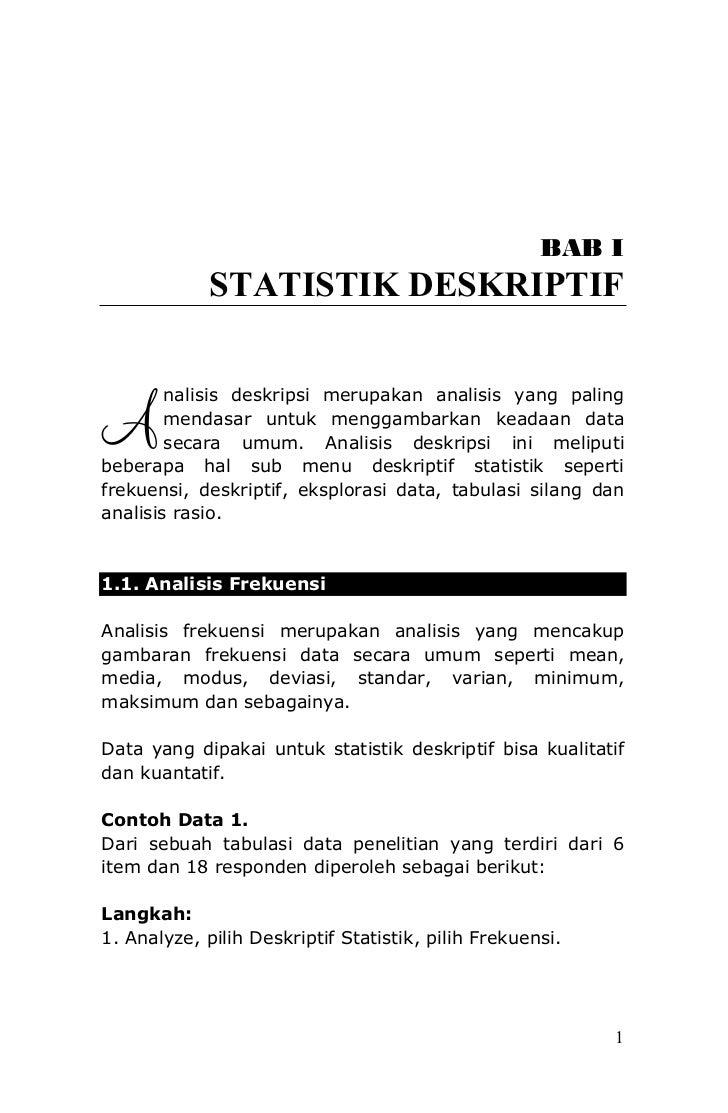 ANALISIS DATA PENELITIAN (Menggunakan Program SPSS)                                                      BAB I            ...