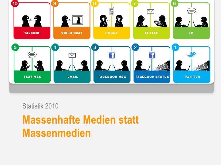 Update: Web und Social Media Nutzung in Deutschland - Herbst 2010