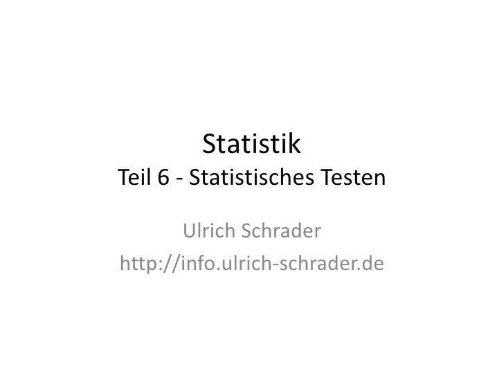 Statistik - Teil 6