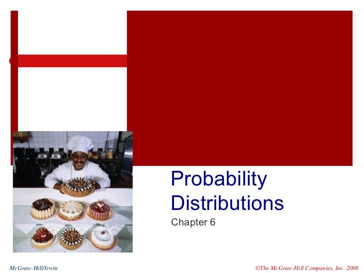 Probability Distributions Chapter 6