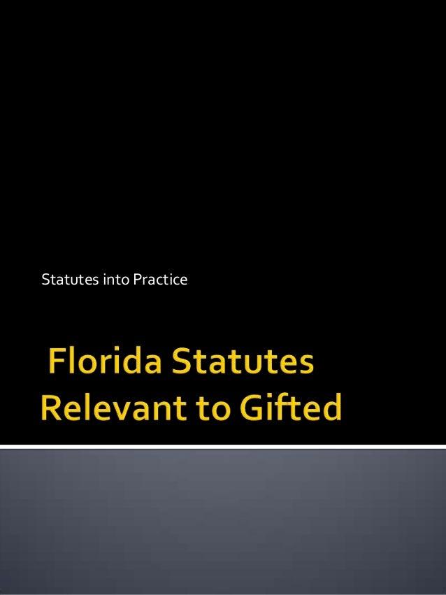 Statutes into Practice