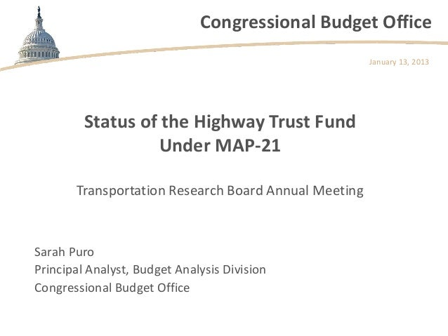 Congressional Budget Office                                                      January 13, 2013         Status of the Hi...