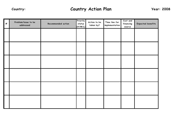 Country Action Plan     Country:                                                                                          ...