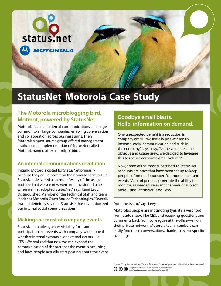 StatusNet Motorola Case Study
