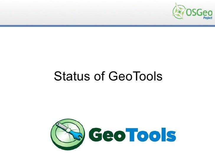 Status of GeoTools