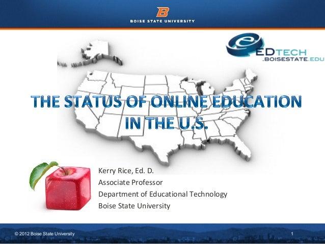 Status of Online Education in the U.S.