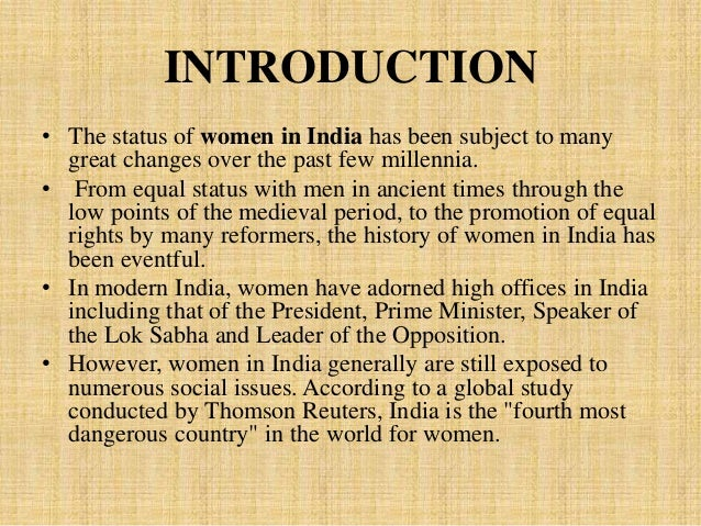 Status of women essay