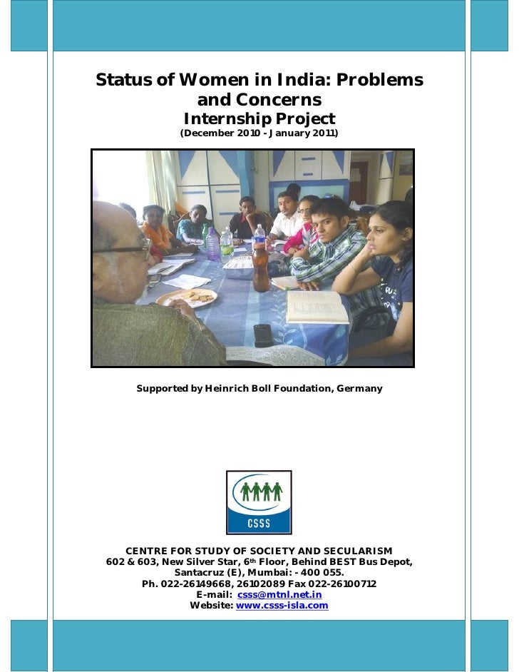 Status of women in india internees report[1]